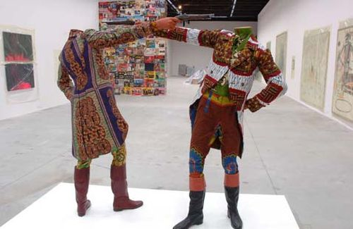 Yinka Shonibare, How to blow up two heads at once, 2006,  Venice Art Biennale 2007