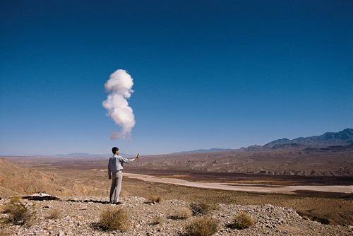 Cai Guo-Qiang. The Century with Mushroom Clouds: Project for the 20th Century. 1996