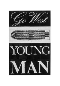 Keith Piper. Go West Young Man. 1987