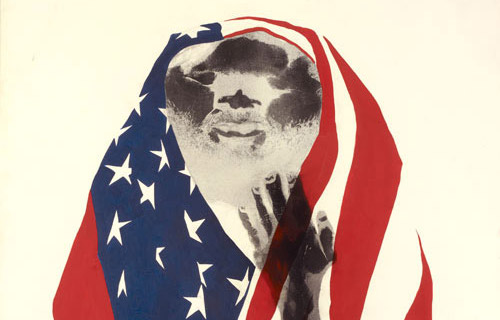 David Hammons. America the Beautiful. 1968